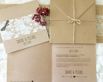 Wedding invitations - vintage wedding