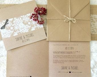 Wedding invitations - vintage wedding