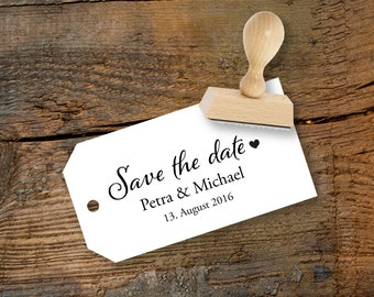 individual save the date wedding stamp