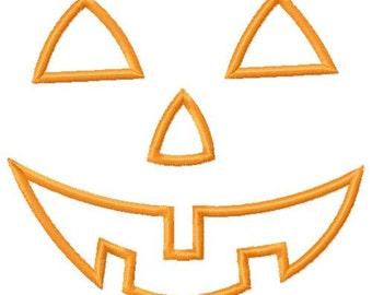 jack o lantern face embroidery design, pumpkin face embroidery design, halloween face embroidery design, pumpkin embroidery
