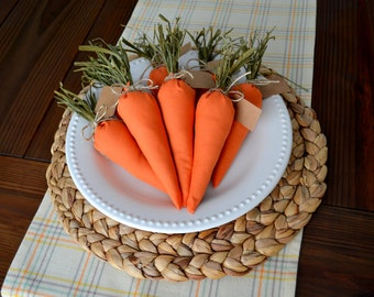 Country Carrot Place-card Holders (Set of 8)