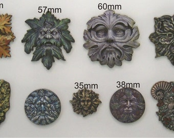 9 x Green Man From the woods and forest