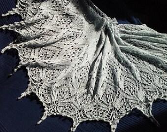 Unique Alpine Meadows technique shawl