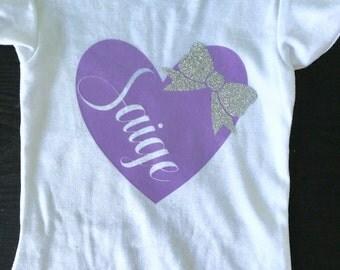 Toddler Girls Shirt-Personalized Shirt-Heart Shirt