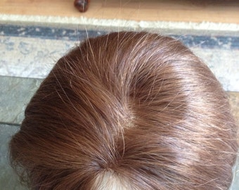 hand tied  human hair topper
