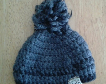 Charcoal Grey and Black Infant Winter Hat