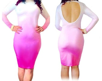 Gwisg - Two Tone Backless Dress