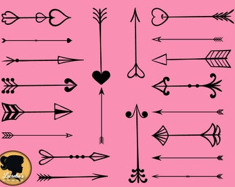 """Shop """"love arrow svg"""" in Drawing, Painting & Writing Supplies"""