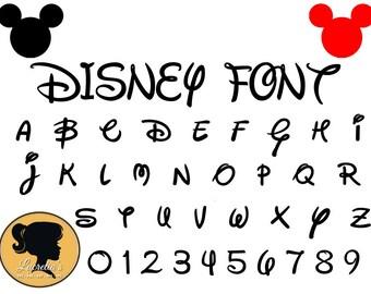 Disney Font Svg  - Instant Download - Disney Cut File  - Font Silhouette Cameo Svg, Dxf, Eps, Png, Jpg Digital