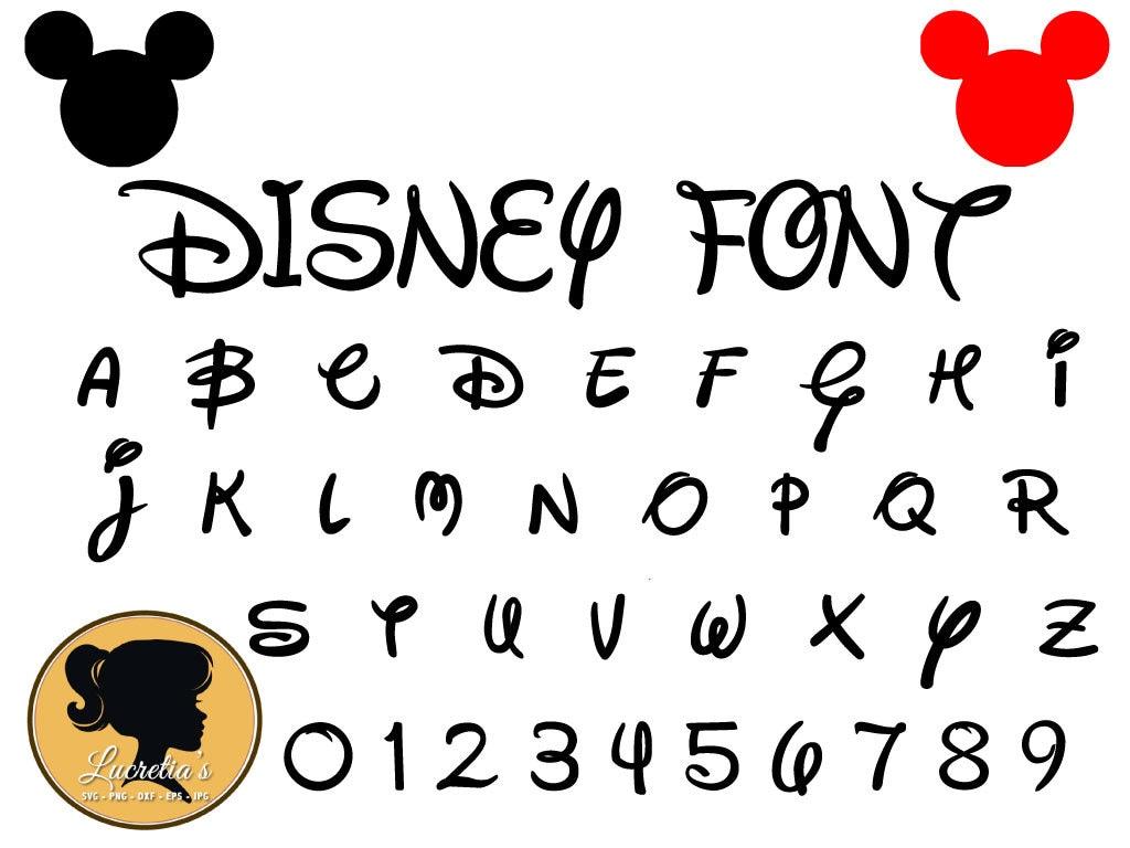 Download Disney Font Svg Instant Download Disney Cut File Font
