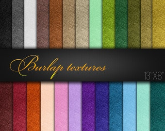 Printable Paper For Craft / Natural Burlap Textures / Digital Scrapbook Paper / Pack of 25 JPG / Fabric Pattern / Color Variety / Real Photo