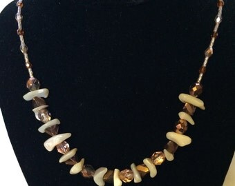 Bronze and Shell Necklace