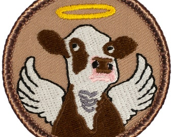 Holy Cow Patch (400) 2 Inch Diameter Embroidered Patch