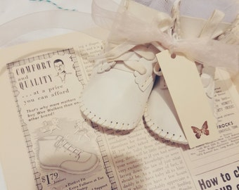Sweet vintage baby shoes