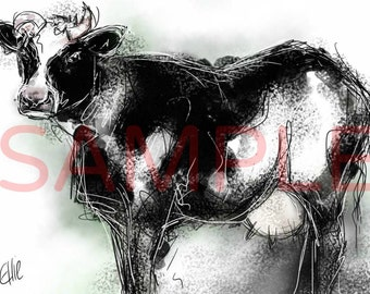 Dairy cow - A3 print
