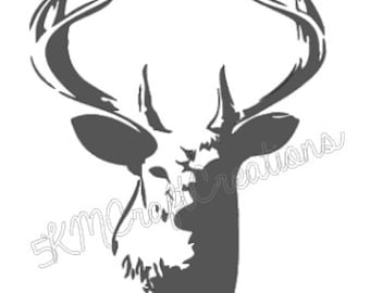 Deer Head, Deer Head DXF, dxf files, png files, studio files, silhouette files
