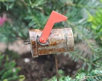 Miniature Dollhouse FAIRY GARDEN ~ 1 X Mini Mailbox Pick  ~ NEW