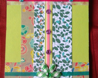 Colorful Handmade Greeting Card