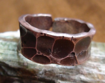 Hammered Copper Ring size 10.5
