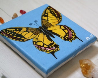 Butterfly Canvas - Yellow