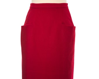 Pencil skirt 50s, Melton wool, falda de lana 50s, falda lana rockabilly,