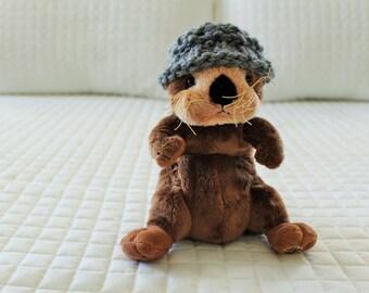 Gray Miniature Stuffed Animal Hat