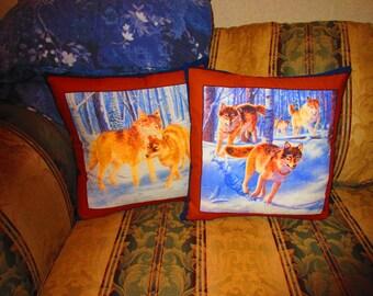 Wolf Pack Throw Pillows