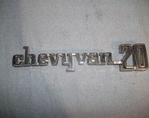 GMC 1972 - 77 Chevy Van 20 Name Plate Emblem Chrome #3970872