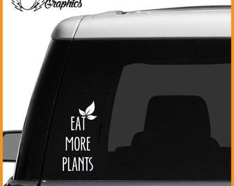Eat More Plants Vinyl Vehicle Decal