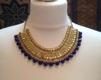 Gold and Beaded Tribal Necklace