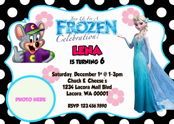 items similar to chuck e. cheese invitation, chuck e. cheese, Birthday invitations
