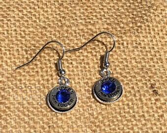 Bullet Earrings with Swarovski Crystals