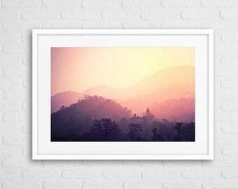 Sunset in India Art Photo Framed