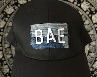 "STAR - Black/ Blue Jeans ""BAE"" Baseball Cap"