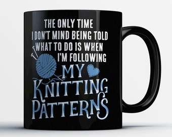 Knitter Gifts - Knitting Coffee Mug - Gifts for Knitters - Knitting Tea Cup