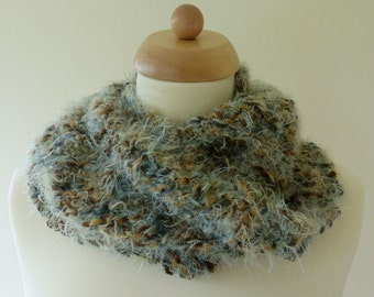Hand Knitted Circular Scarf/Cowl