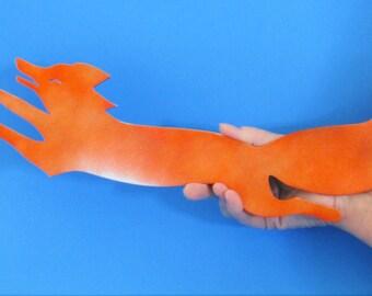 Whimsical Jumping Red Fox, Red Fox, Wildlife, Sportsman, Hunter, Handmade, Metal Art