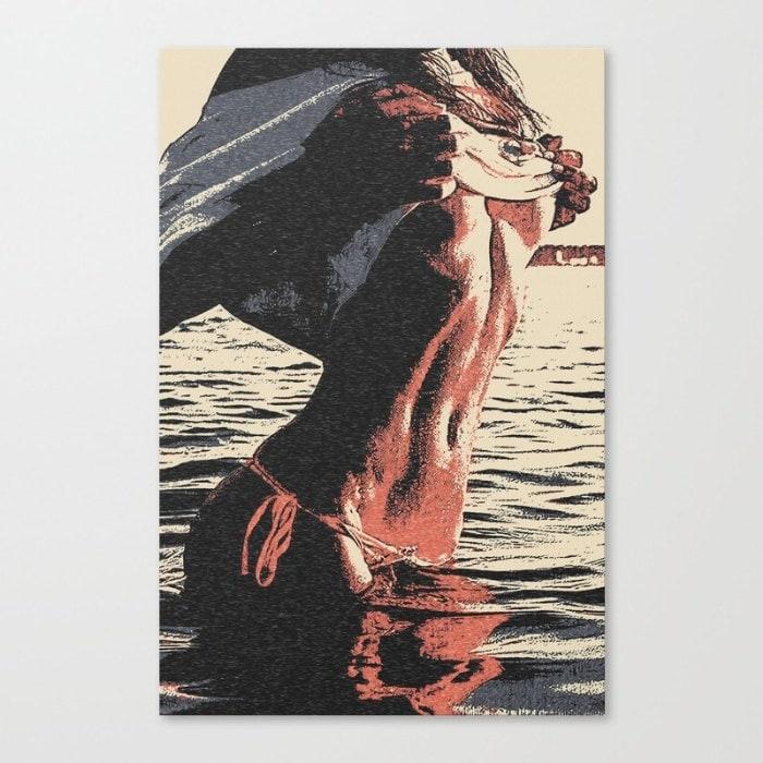 Erotic art on canvas