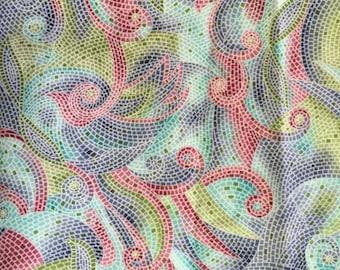 Multi-colored cotton print fabric