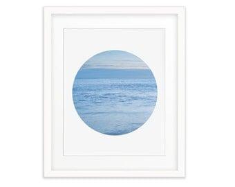 Sea Photography, Ocean Photography, Ocean Wall Art, Sea Printable Art, Blue Circle Art, Blue Ocean Art, Printable Art, Ocean Art