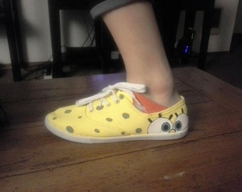 Spongebob Painted Shoes