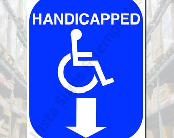 Handicapped Parking Handicap Sign Toilet Bathroom Ramp