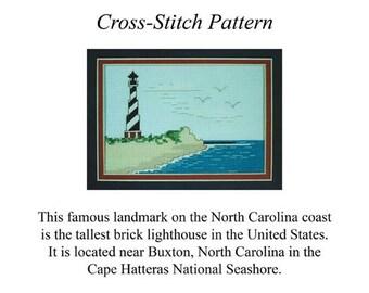 Cape Hatteras Light Cross-Stitch Pattern