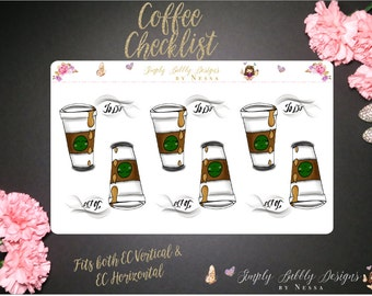 Coffee Checklist - Planner Stickers