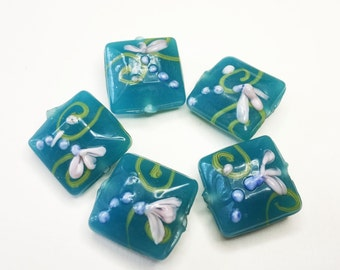 TURQUOISE LAMPWORK BEADS