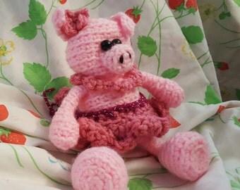 Amigurumi Pig ~ Petunia Pig ~ Crochet Pig ~ Cute Pig ~ Plush Pig ~ Crochet Animal