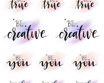 Hand lettered stickers - BE Collection - BE1603