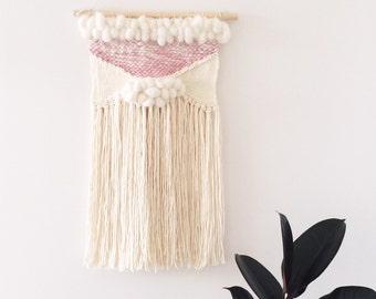 Woven Wall Hanging: Boho Tapestry, Unicorn Dreams Weaving