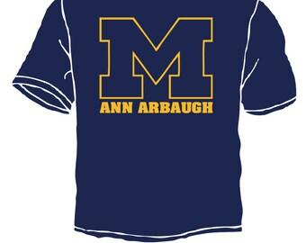 Michigan Ann Harbaugh shirts wolverines