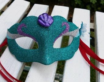 Ariel The Little Mermaid inspired mask.